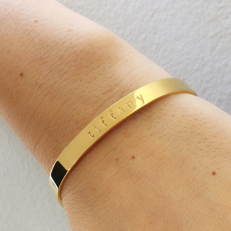 taudrey gold personalized gold autograph cuff