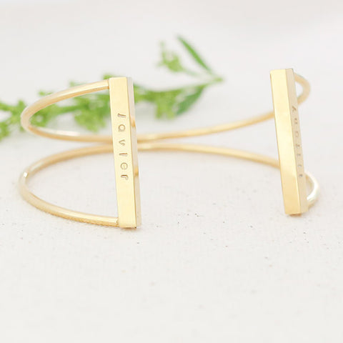 taudrey gold xo personalized cuff