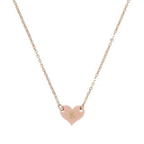 taudrey gold petite heart charm necklace