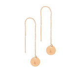 taudrey hanging by a thread earrings rose gold hanging personalized