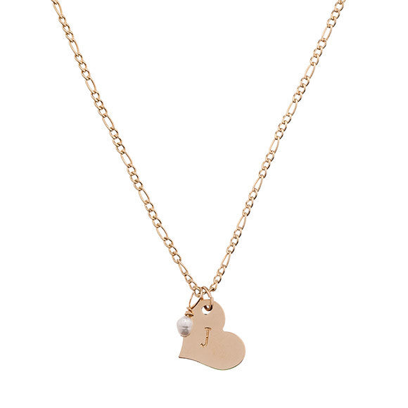 Taudrey Initial Heart Necklace