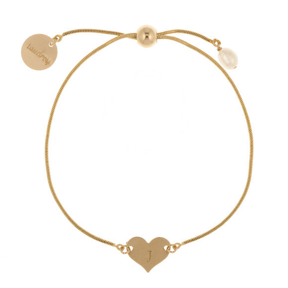 taudrey heart of gold bracelet gold heart personalized