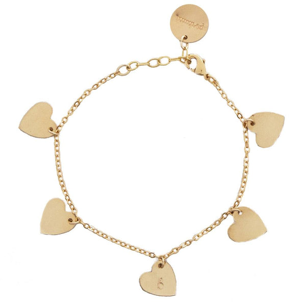 taudrey heartbeat bracelet personalized dangling charms