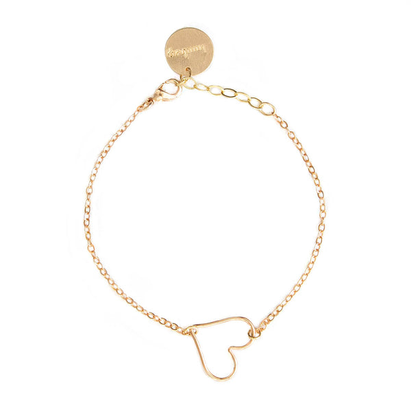 taudrey rose gold dainty bracelet rose heart wire detail adjustable rose chain bracelet