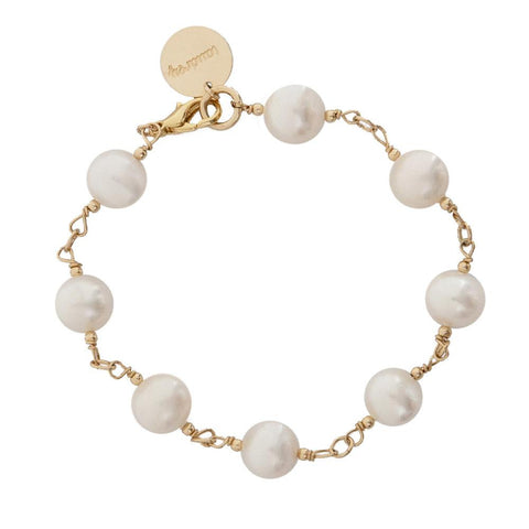 taudrey handcrafted statement pearl bracelet gold filled wiring
