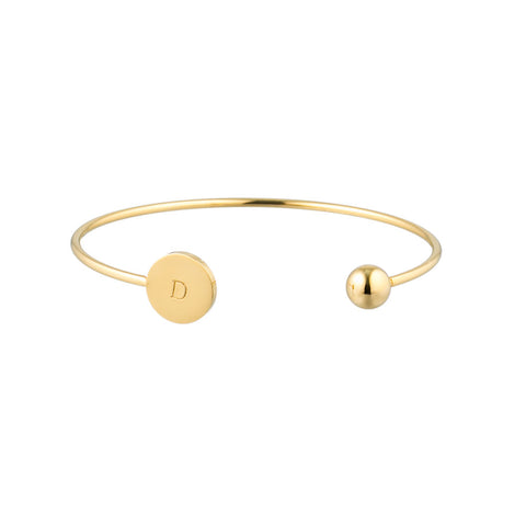 taudrey inner circle personalized gold geometric cuff