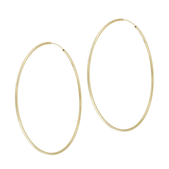 taudrey hula hoop earrings gold large