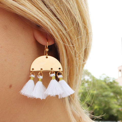 taudrey keep it cool statement personalized tassel earrings on trend summer style white bold neon colors