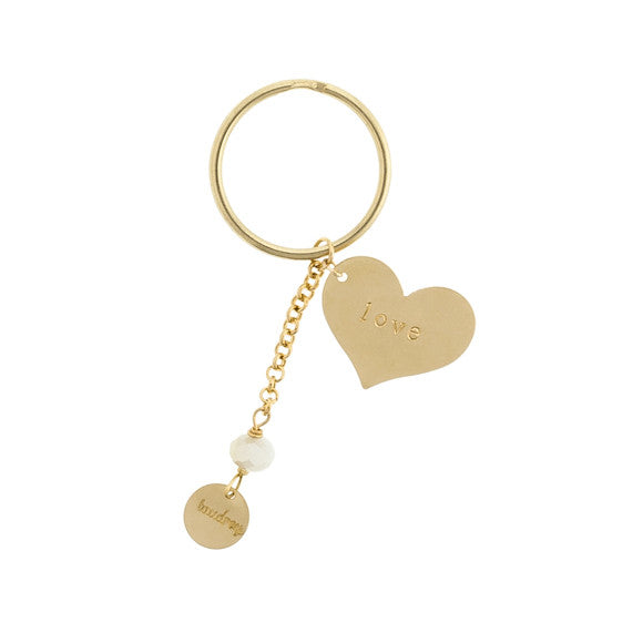 taudrey key to my heart key chain large personalized heart charm
