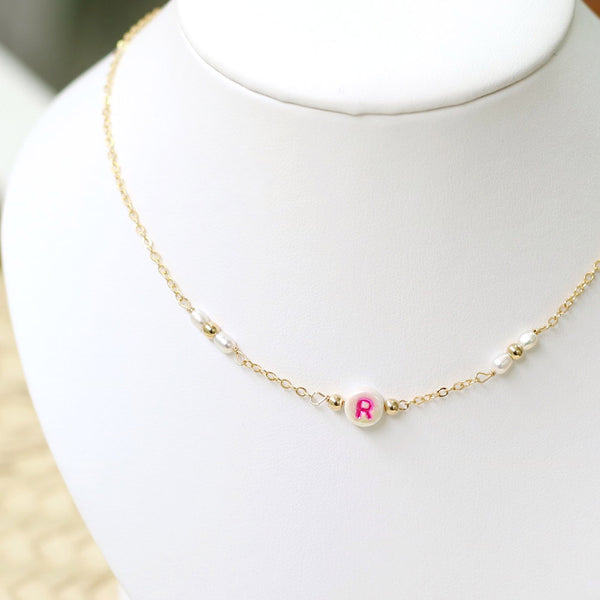 taudrey kids necklace colorful personalized bead pearl gold beads