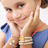 taudrey kids girl personalized beaded bracelet sets