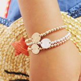 taudrey kids three little pretties gold rose gold silver personalized beaded bracelets