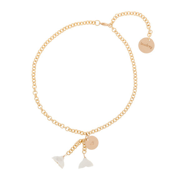 taudrey lets be mermaids gold anklet with personalized coin and mermaid tail accents
