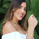 taudrey blogger collab laura vila miami blogger personalied gold bracelet set