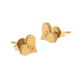 taudrey listen to your heart studs gold heart shaped earrings