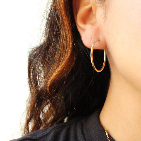taudrey dainty gold hoop earrings small