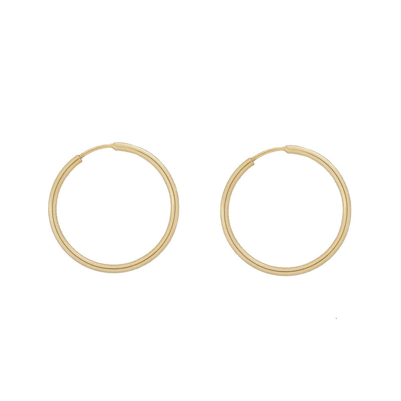 taudrey dainty gold hoop earrings small continuous closure