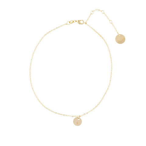 taudrey living single choker necklace single gold chain styled