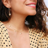 taudrey long walks on the beach small gold hoops scallop shell sand dollar detail
