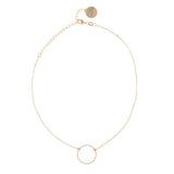 taudrey love loop gold necklace choker gold chain gold ring