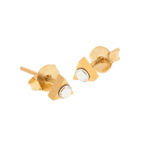 taudrey love triangle studs gold triangle shaped