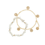 taudrey luli fama anklet party set gold charms and shell anklets