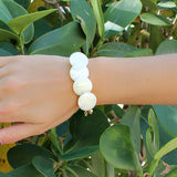 taudrey luli fama collaboration collection wild heart shell we bracelet white shell disc