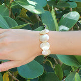 taudrey luli fama collaboration collection wild heart shell we bracelet sand shell disc
