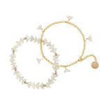 taudrey luli fama mermaid life anklet set mermaid tail shell accents