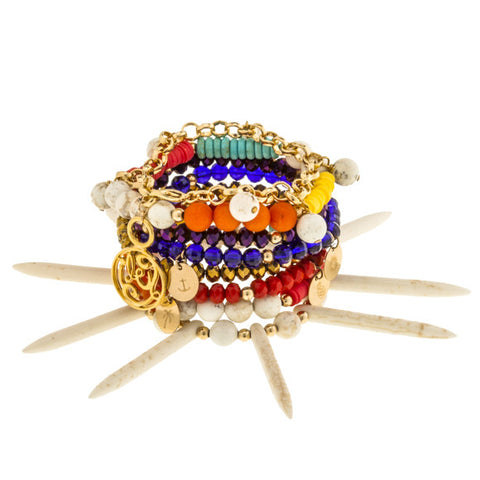 taudrey luli fama wanderlust eight piece bright colored arm party bracelet set