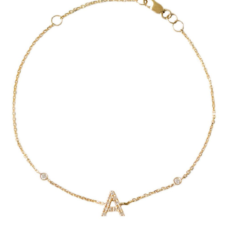 taudrey luxe fine jewelry worth it bracelet 14k yellow gold personalized charm with pave diamonds