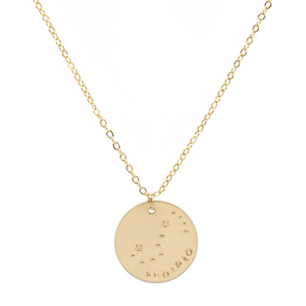 taudrey zodiac constellation necklace hand stamped blogger macarena material girl blog