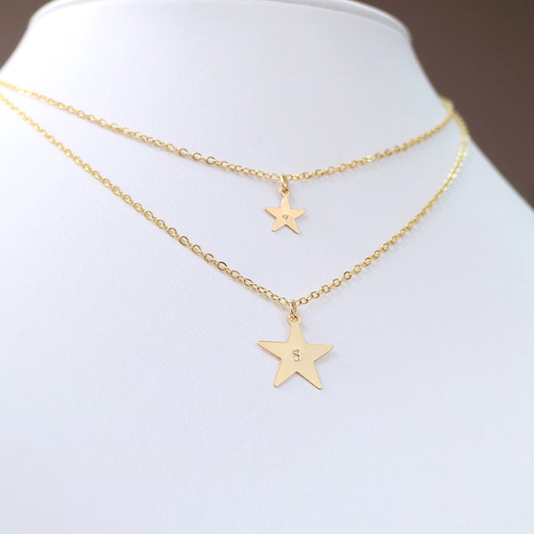 taudrey kathy buccio collab made of stars celestial layered personalized necklace