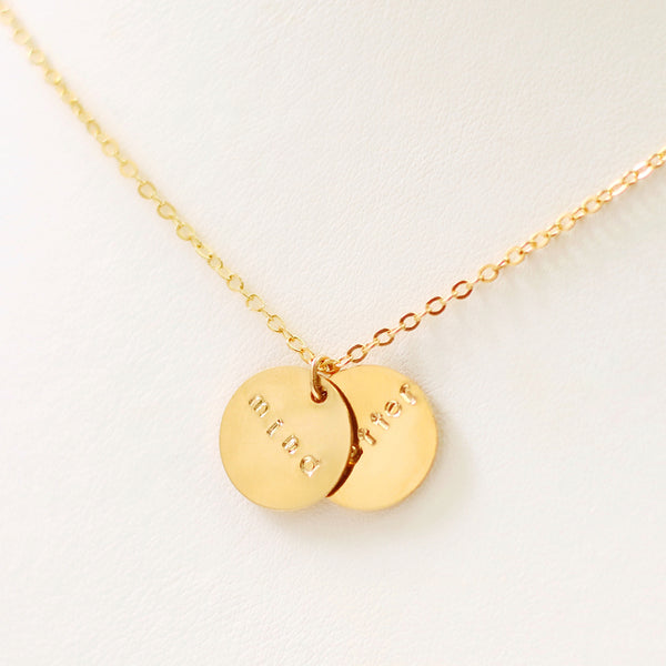taudrey mindset gold charm inspirational charm necklace