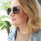 taudrey handcrafted sunglasses chain micro charm details