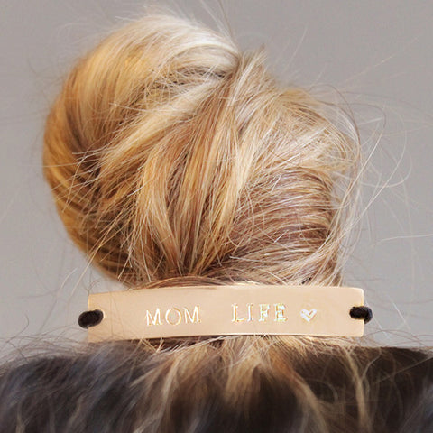 taudrey mother day gift mom life bun elastic hair cuff