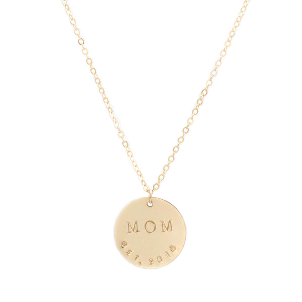 taudrey momma bear necklace taudrey dainty gold necklace personalized statement charm mom established date necklace