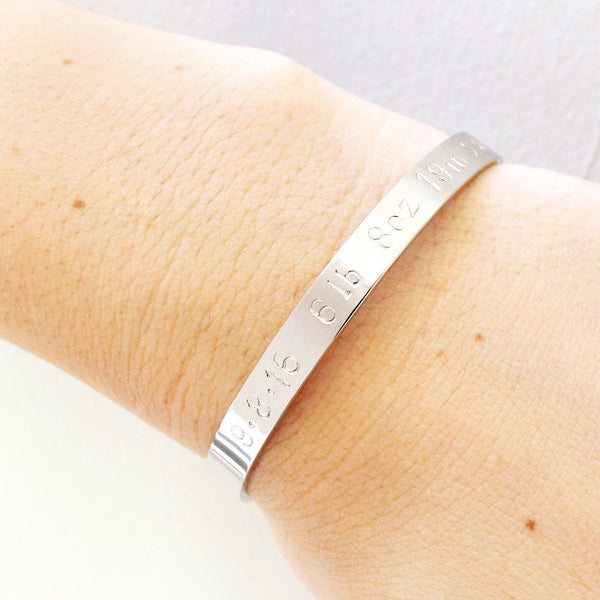 taudrey mommy gold cuff newborn details hand stamped personalized adjustable cuff