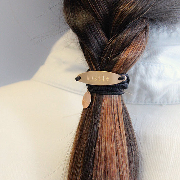 taudrey mr nice tie elastic personalized gold hair cuff