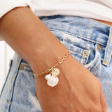 taudrey natural beauty natural pearls personalized charm bracelet