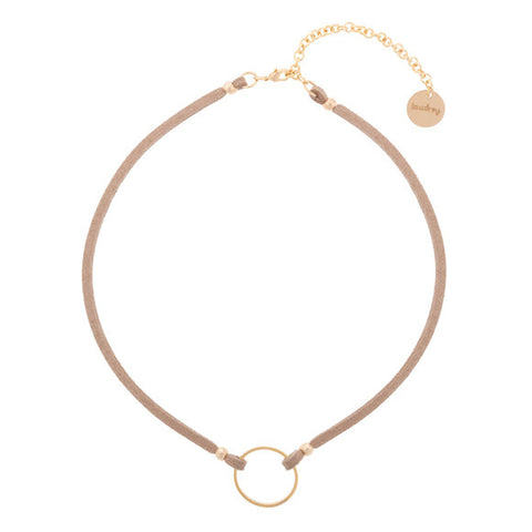 taudrey nice ring to it suede choker with personalized ring
