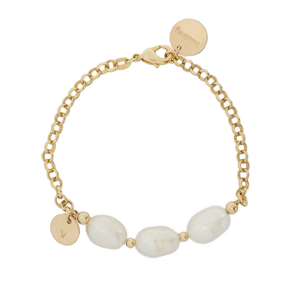 taudrey oh hey pearl bracelet statement pearl personalized charm