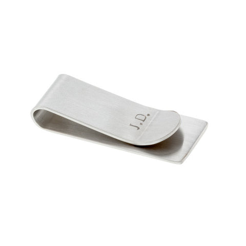 taudrey on the money clip steel two initials heart