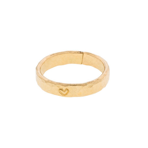 taudrey one woman band gold ring with heart