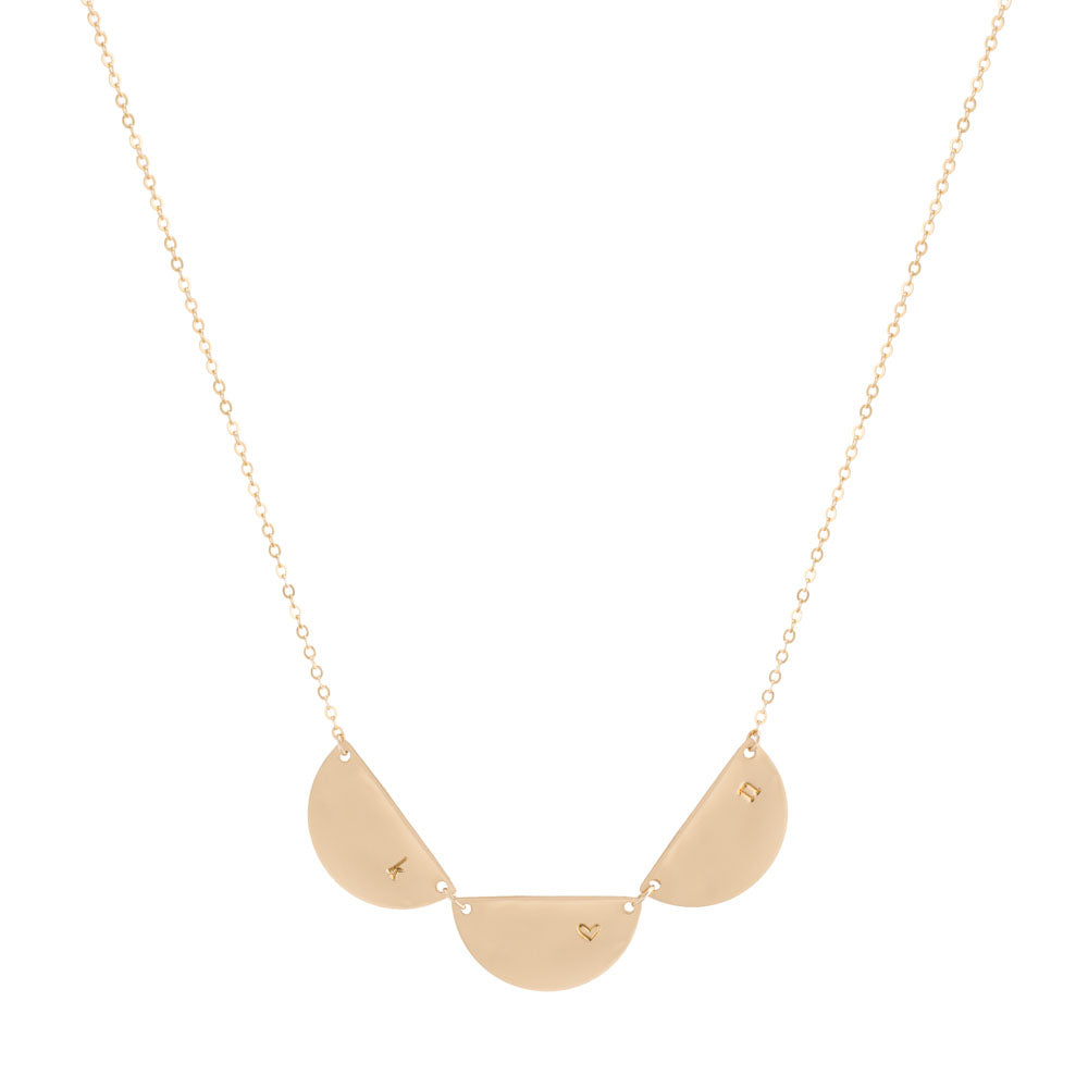 star products moon dainty necklace and