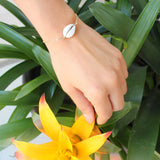 taudrey out of her shell dainty gold adjustable bracelet shell accent