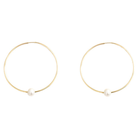 taudrey pearl boss hoop earrings gold dainty earrings pearl accent