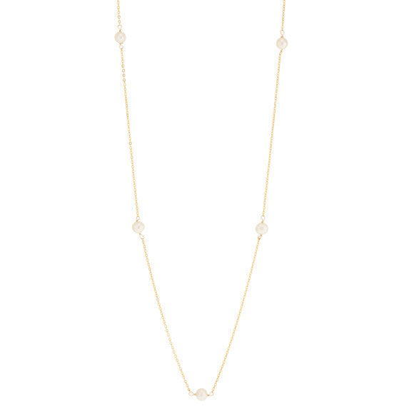 taudrey pearl next door long necklace small dainty pearls