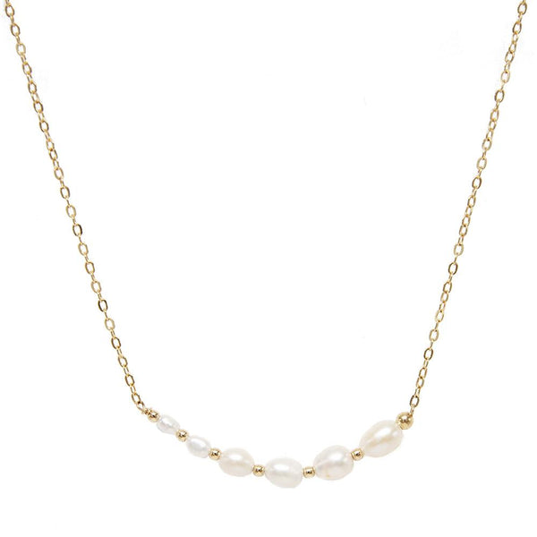 taudrey pearl pile necklace pearls in increasing sizes