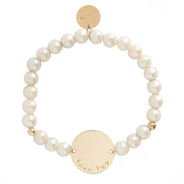 taudrey pearls can beaded pearl bracelet personalized gold charm